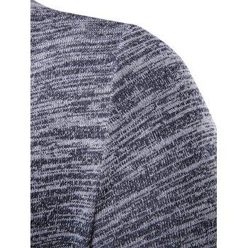 Open Front Space Dye Contrast Panel Cardigan - M M
