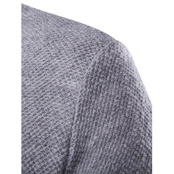 Texture Knitted One Button Cardigan - GRAY GRAY