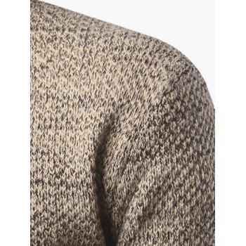Heathered Turtleneck Pullover Sweater - L L