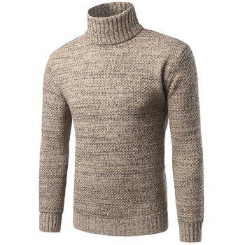 Heathered Turtleneck Pullover Sweater