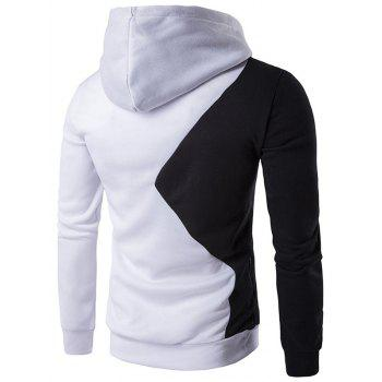 Two Tone Long Sleeve Pullover Hoodie - XL XL