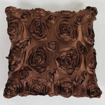 Sweet Home Decoration 3D Roses Back Cushion Pillow Case