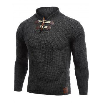 Long Sleeve Flat Knitted Toggle Sweater
