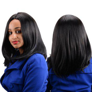 Long Middle Parting Kanekalon Straight High Temperature Fiber Wig