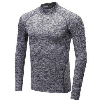 Roll Neck Raglan Sleeve Quick Dry Fitness T-Shirt