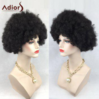 Adiors Short Wild-Curl Up Shaggy Curly Party Synthetic Wig