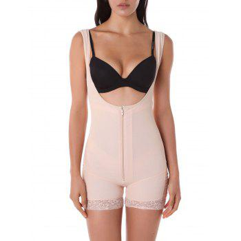 Lace Trim Shorts Bodysuit Corset