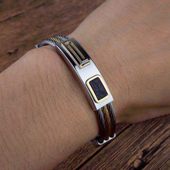 Twisted Chain Layered ID Bracelet -  SILVER
