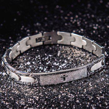 Letter Cross Engraved ID Bracelet