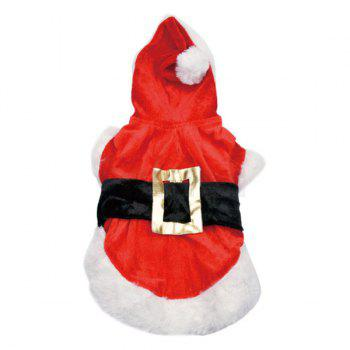 Winter Christmas Puppy Pet Waistcoat Jacket Clothes - RED/WHITE S