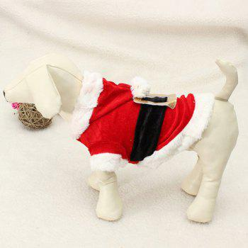 Winter Christmas Puppy Pet Waistcoat Jacket Clothes - RED WITH WHITE RED/WHITE