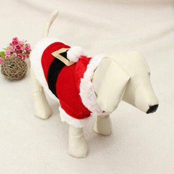 Winter Christmas Puppy Pet Waistcoat Jacket Clothes - RED/WHITE XS