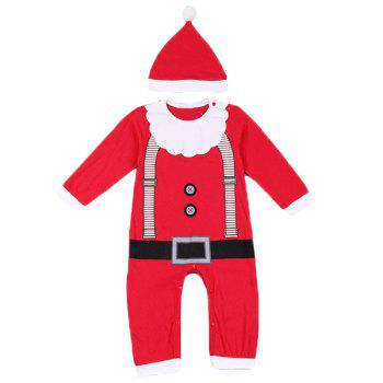 Christmas Overalls Costume Set For Infant - RED RED