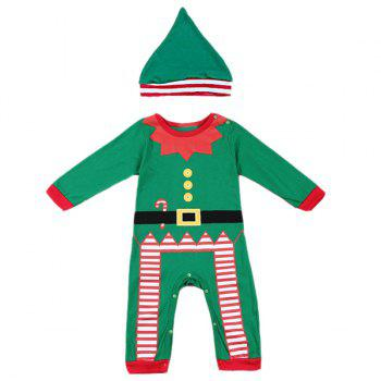 Christmas Overalls Costume Set For Infant