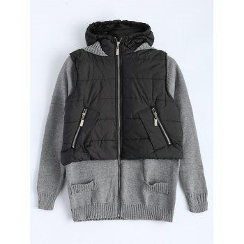 Contrast Knit Padded Jacket
