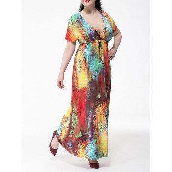 Plus Size Tie Dyed Maxi Beach Dress