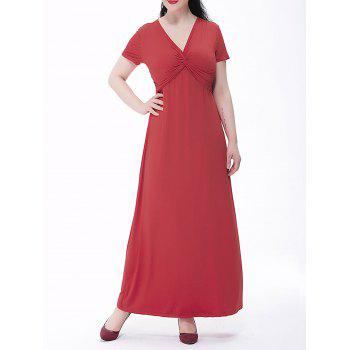 Plus Size Empire Waist Twist Maxi Formal Dress