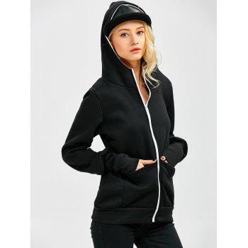 Casual Zip Up Baby Carrier Hoodie