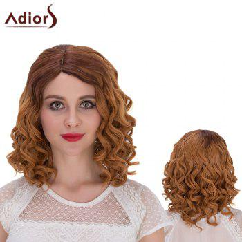 Adiors Hair Short Mixed Color Side Parting Curly Synthetic Wig