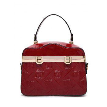 Retro Metal Trimmed Embossed Handbag