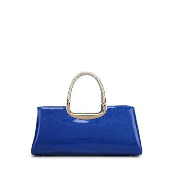 Braid Metal Patent Leather Handbag