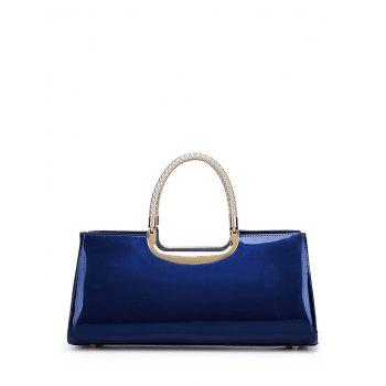 Braid Metal Patent Leather Handbag - DEEP BLUE DEEP BLUE