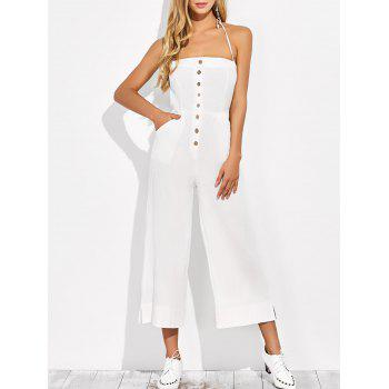 Wide Leg Backless Jumpsuit