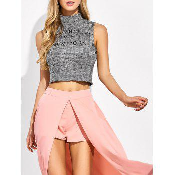 High Neck Sleeveless Crop Top