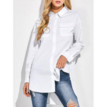 Side Slit Oversized Boyfriend Shirt