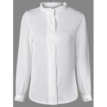 Long Sleeve Ruffles Work Blouse