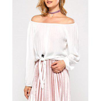Off The Shoulder Bubble Sleeve Blouse
