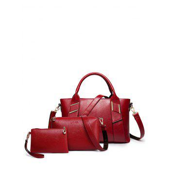 Textured PU Leather 3 Piece Handbag Set