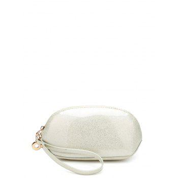 Patent Leather Zipper Around Wristlet - OFF-WHITE OFF WHITE