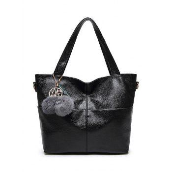 PU Leather Pompons Shouder Bag