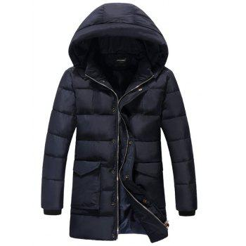 Detachable Hooded Plus Size Thicken Lengthen Quilted Coat