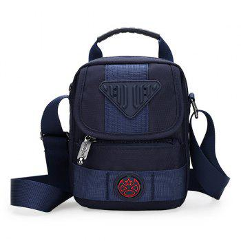 Nylon Zipper Dark Colour Crossbody Bag - DEEP BLUE DEEP BLUE