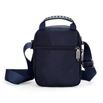 Nylon Zipper Dark Colour Crossbody Bag -  DEEP BLUE