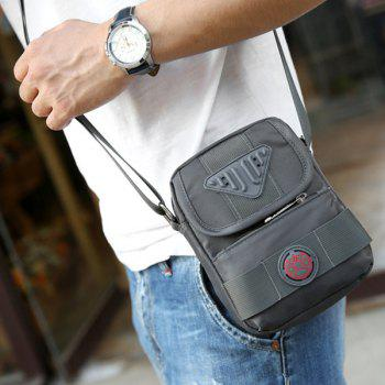 Nylon Zipper Dark Colour Crossbody Bag - DEEP GRAY