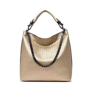 Double Buckle Chain Argyle Tote Bag