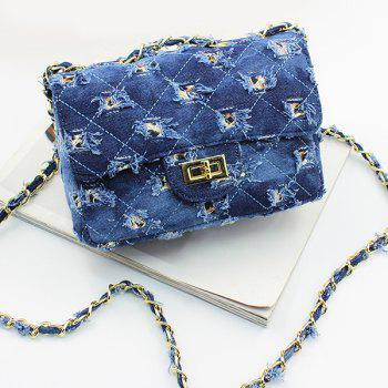Argyle Denim Holes Crossbody Bag