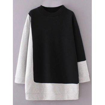 Color Block Mock Neck Sweatshirt