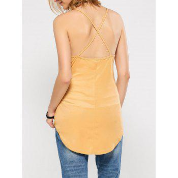 Criss Back Suede Cami Top - M M