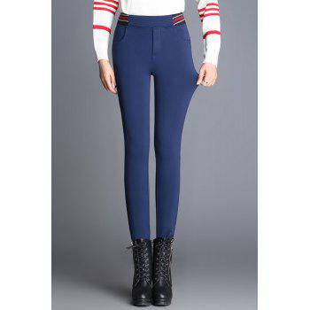 Striped Skinny Wool Blend Pencil Pants