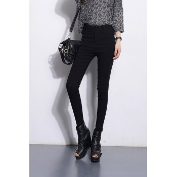 High Waist Skinny Leg Pencil Pants
