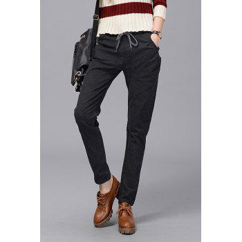 Casual Elastic Waist Straight Pants
