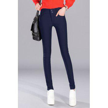 Thermal Wool Blend Narrow Feet Pants