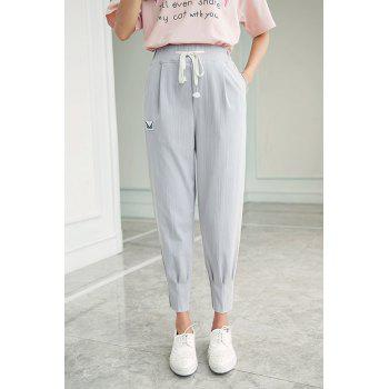 Patched High Waist Harem Pants