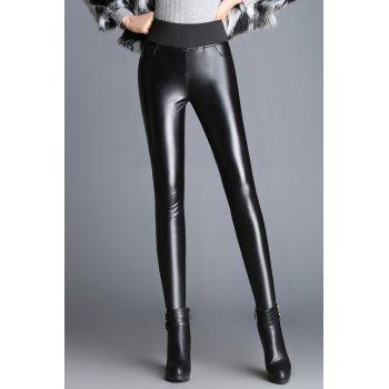 Faux Leather Pencil Skinny Pants