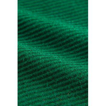 Slit Mock Neck Knit Dress - BLACKISH GREEN BLACKISH GREEN
