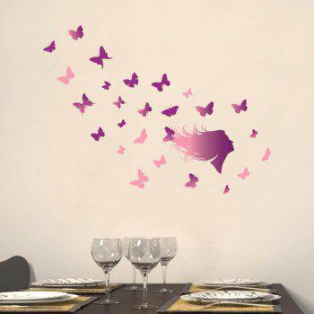 Butterfly of Love Refrigerator Wall Stickers - PURPLE